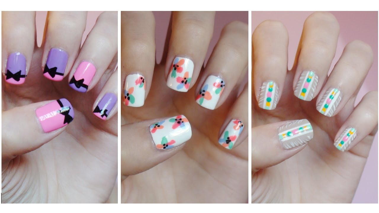 Easy nail art for beginners 8 youtube prinsesfo Gallery