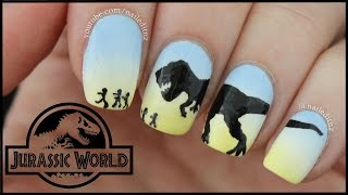Jurassic World Dinosaur Nail Art | T-Rex!