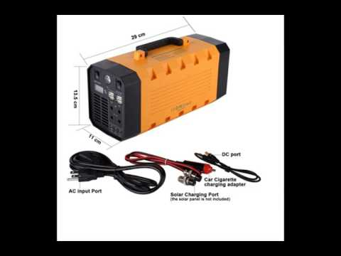 output portable ups AC/DC power supply with lithium battery 26Ah 500w charge any mobile phone and la