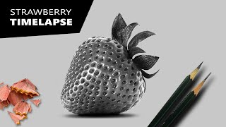 Hyperrealistic Strawberry Drawing | Complete Time lapse video