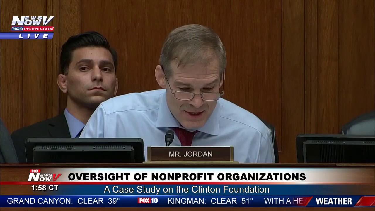 MUST WATCH: Jim Jordan GOES OFF During Clinton Foundation Hearing