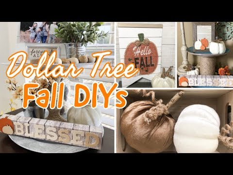 FALL DECOR 2019  | DOLLAR TREE DIY