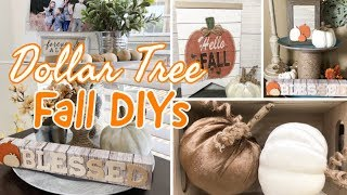 FALL DECOR 2019  | DOLLAR TREE DIY