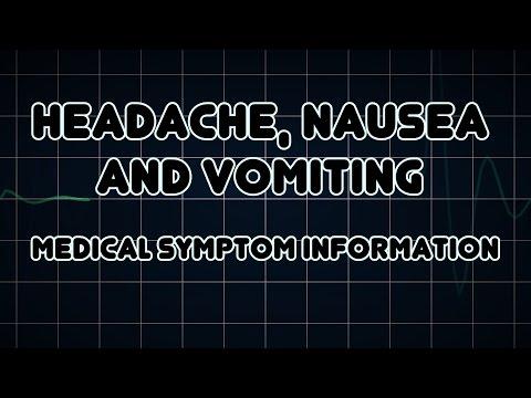 Headache Nausea And Vomiting Medical Symptom