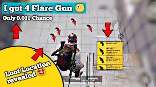 I got 4 Flare Gun in just 2 building 🤪 | Location of flare gun | Solo vs squad | Pubg mobile Hindi