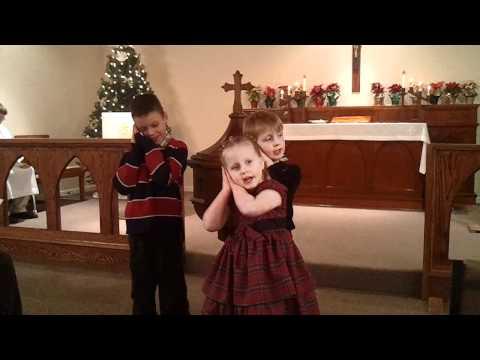 Congregation Kids Sing Away In A Manger