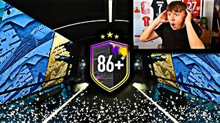 we packed TOTS Neymar from 15x 86+ Upgrades on FIFA 20...