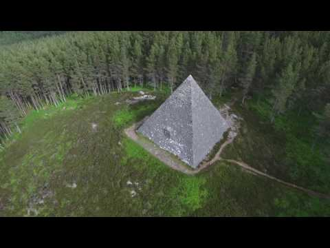 Scottish Pyramid, Balmoral estate, Scotland.