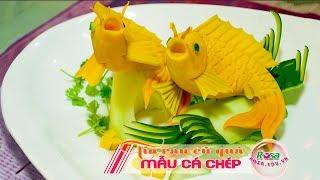 Một Buổi Học Tỉa Mẫu Cá Chép Từ Bí Đỏ Cùng Chef Cường Thịnh