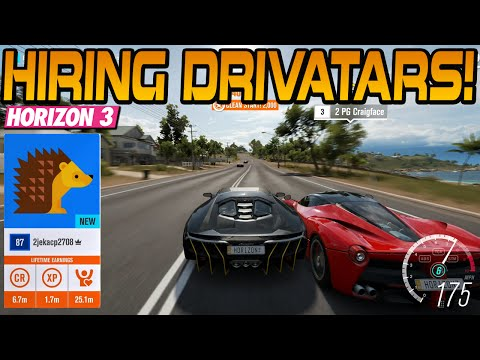 Forza Horzon 3 HIRING & FIRING DRIVATARS (Gameplay Footage)
