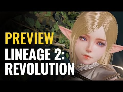 Lineage 2: Revolution Preview   iOS & Android 3D MMORPG