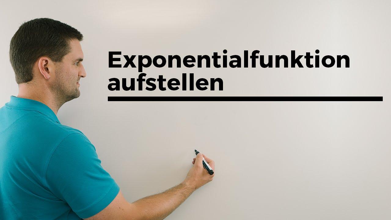 exponentialfunktion aufstellen a x mit einem gegebenen. Black Bedroom Furniture Sets. Home Design Ideas