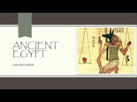 ANCIENT EGYPT - Rights, freedom and the Law
