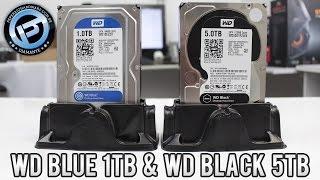 Análise e testes de dois HDs Western Digital para desktops: WD Black 5TB (lançamento) e WD Blue 1TB