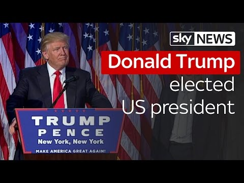 Donald Trump elected US president