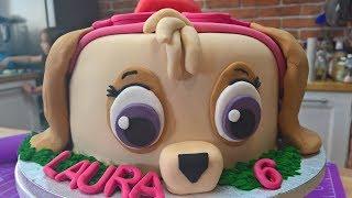 Tort psi patrol 2 w 1 dla chłopca i dziewczynki tort dwustronny