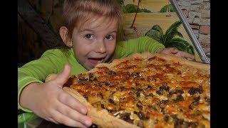 изумительная пицца на слоено-дрожжевом тесте