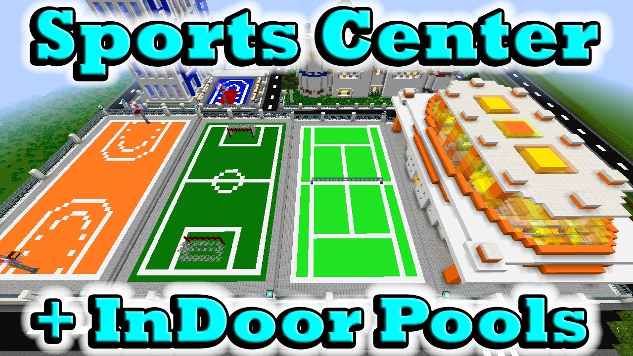Minecraft sports center indoor pools youtube for Sports pool designs