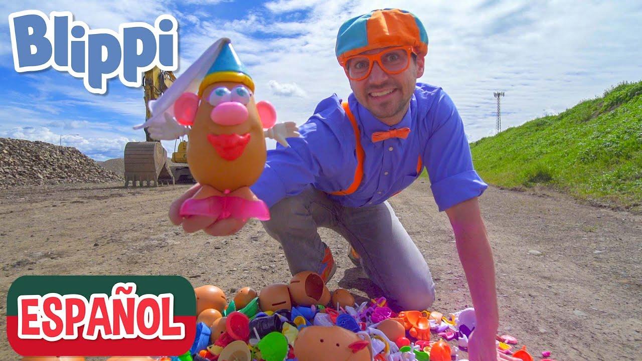Cabezas de Patata con Blippi Español en la Granja | Videos Educativos para Niños