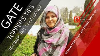 How to crack GATE [Life Science] | By Absar Talat | GATE Topper | 2018