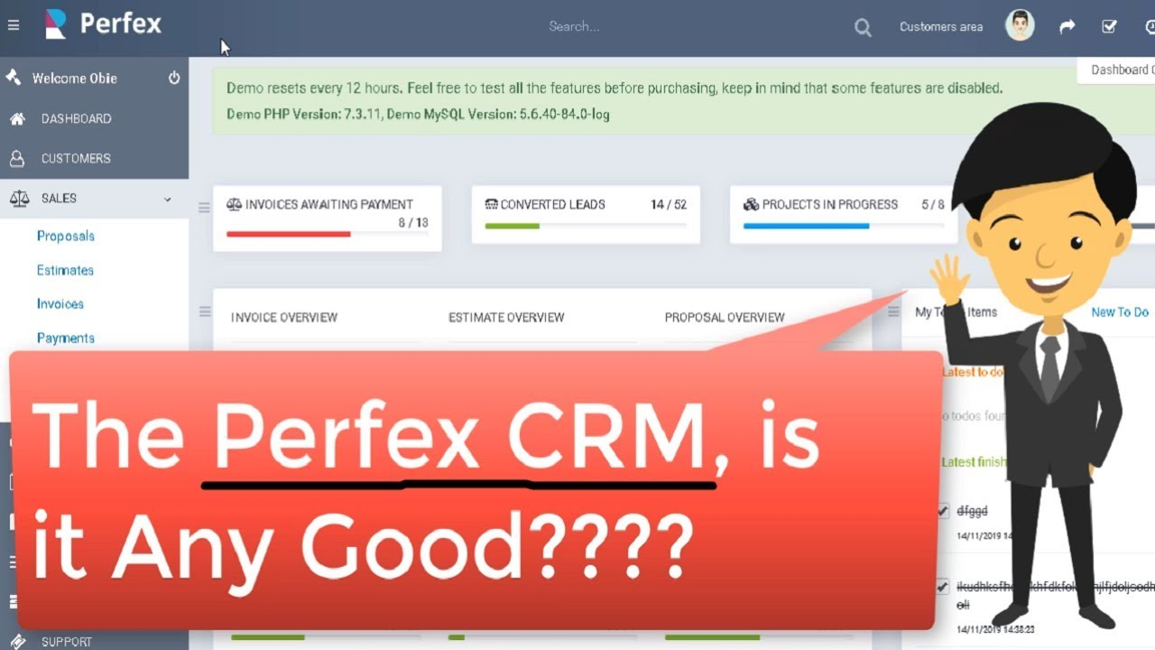 Best CRM  Software PHP Script (Customer Relationship Management) - Perfex Review