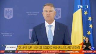 Declaraţii Klaus Iohannis: Se prelungește starea de alertă, dar cu mai puţine restricţii