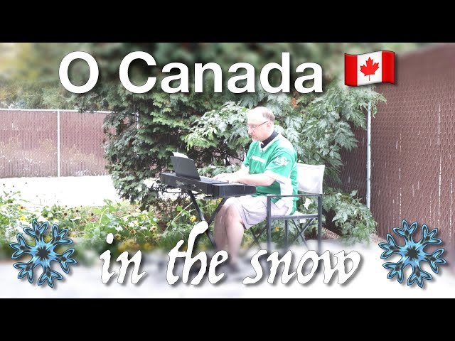 Piano: Playing O Canada in the snow!