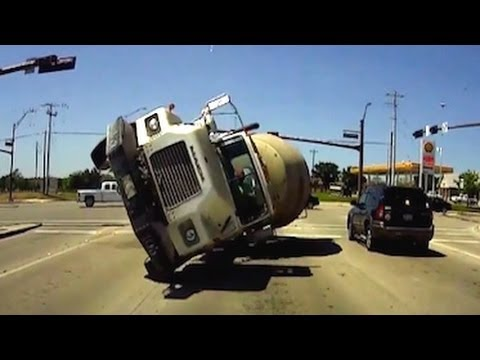 Cement Truck Crash Video Caught On Dashboard Cam Youtube