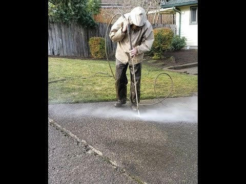 How to Power Wash Old Weathered Exposed Aggregate Driveway
