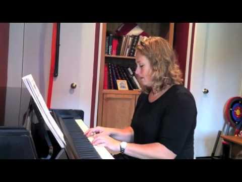 Adult piano student Jennifer Savitch plays two beginner songs
