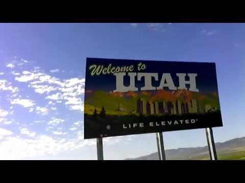 Utah on Interstate 15.  From Idaho.
