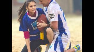 Nina Dobrev and Candice Accola at DIRECTV's Sixth Annual Celebrity Beach Bowl