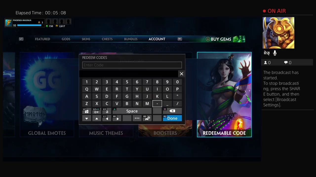 SMITE Guide:How To Redeem Codes For PS4 + Bundles, Ward ...