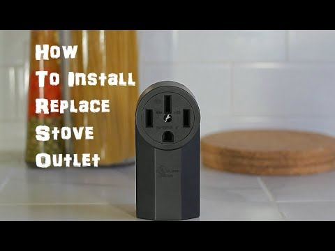 how to install replace stove range outlet