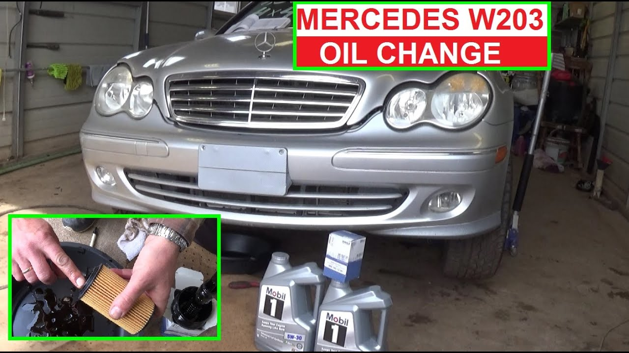 Mercedes W203 Oil change Mercedes c320 c230 c240 c280 How to do oil change