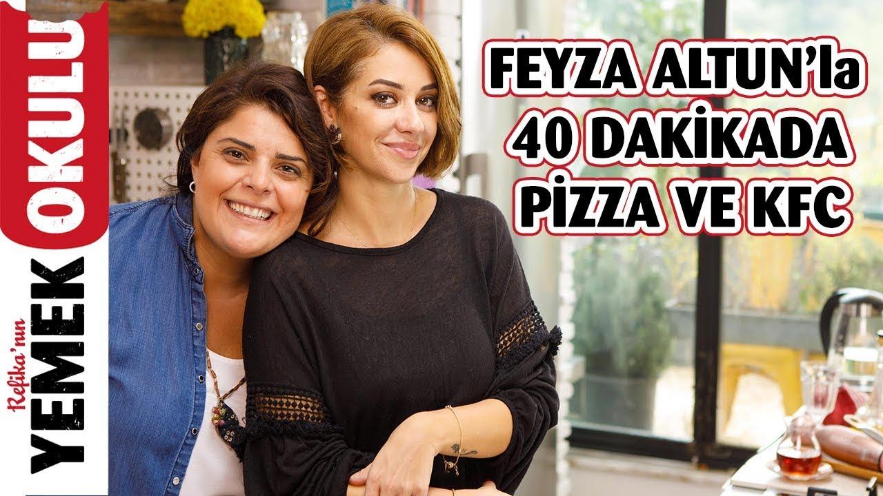 Av. @Feyza Altun  ile 40 Dakikada Hem Pizza, Hem KFC Meydan Okuması