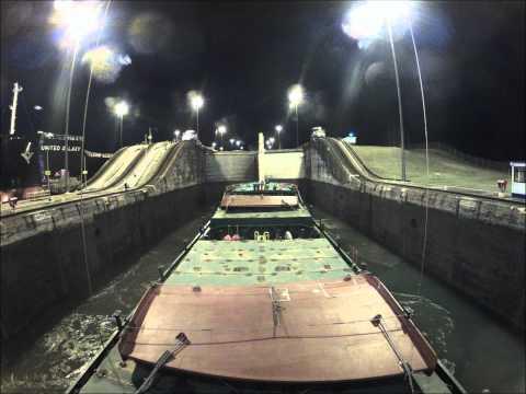Panama Canal Gatun Lock onboard the MV Coastal Venture