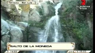 Salto de la Moneda, trayecto y leyenda. Potrero de los Funes San Luís