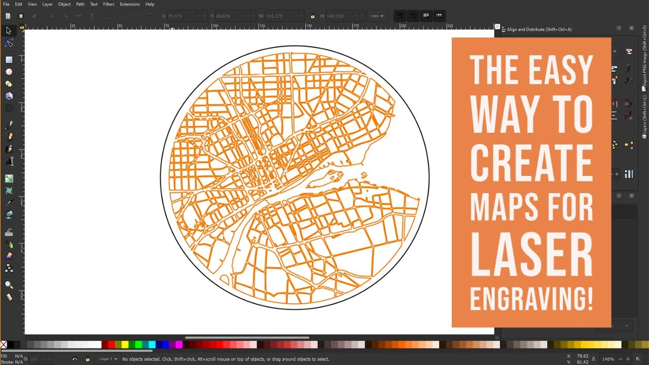 Inkscape Tutorial  -  Easy Map Creation for Laser Engraving!