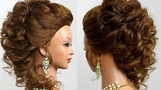 Romantic bridal prom  hairstyle for long  hair