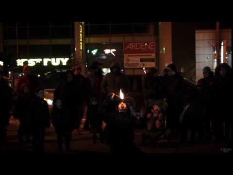 JRCC Public Menorah Lighting 2016 - Fire show (01)
