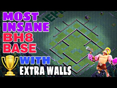 MOST INSANE BH8 BASE WITH EXTRA WALLS | JUNE UPDATE BH8 BASE 2018 w/PROOF | Clash of Clans