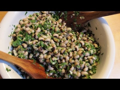 Black Eyed Beans Salad - Greek And Vegan!