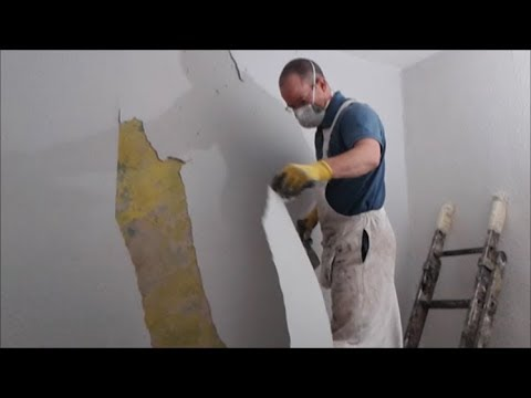 How to strip woodchip wallpaper off ceilings and walls. Painting and Decorating