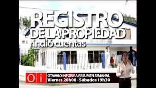 REGISTRO DE LA PROPIEDAD RINDIO CUENTAS