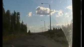 Driving in Vartius near the Russian border station, Finland