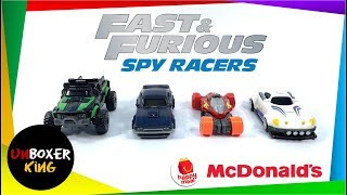 2020 Fast & Furious Spy Racers 🚕🚙🚗🚓🏎️ - Mcdonald's Happy Meal Complete Set Of 4
