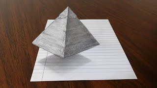 Floating Pyramid - 3D Trick Art on Paper