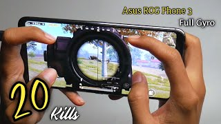 Unboxing Asus ROG Phone 3 & Test Game PUBG 4 Finger Full Gyro | Solo Vs SQuad#1