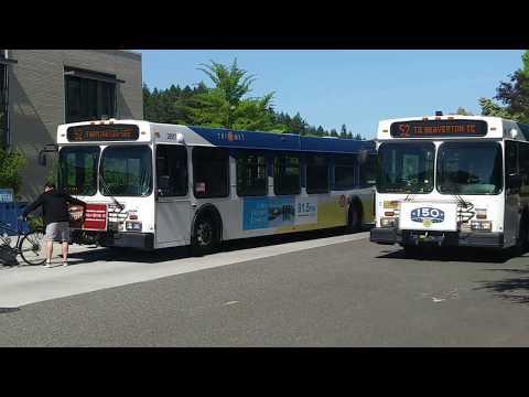TriMet mini buses actions @ Portland Community College Rock Creek Campus
